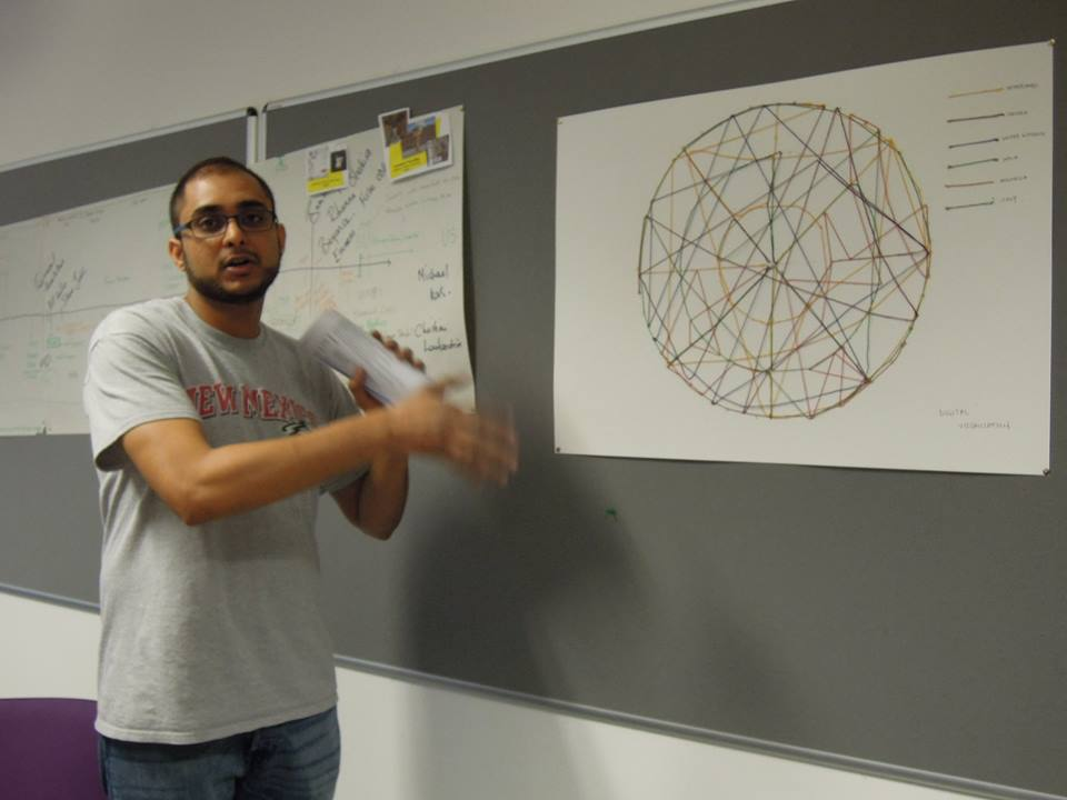 Data Visualisation - me presenting our work