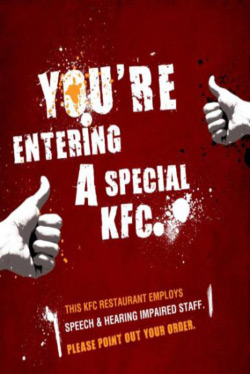 KFC - Poster at the entrance