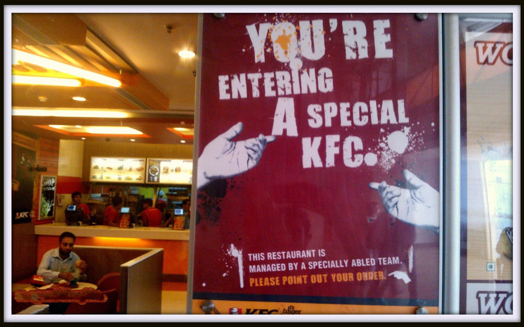 A Special KFC for Specially-abled