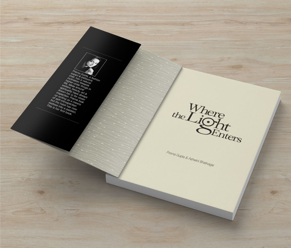 Where The Light Enters - Flap and end papers