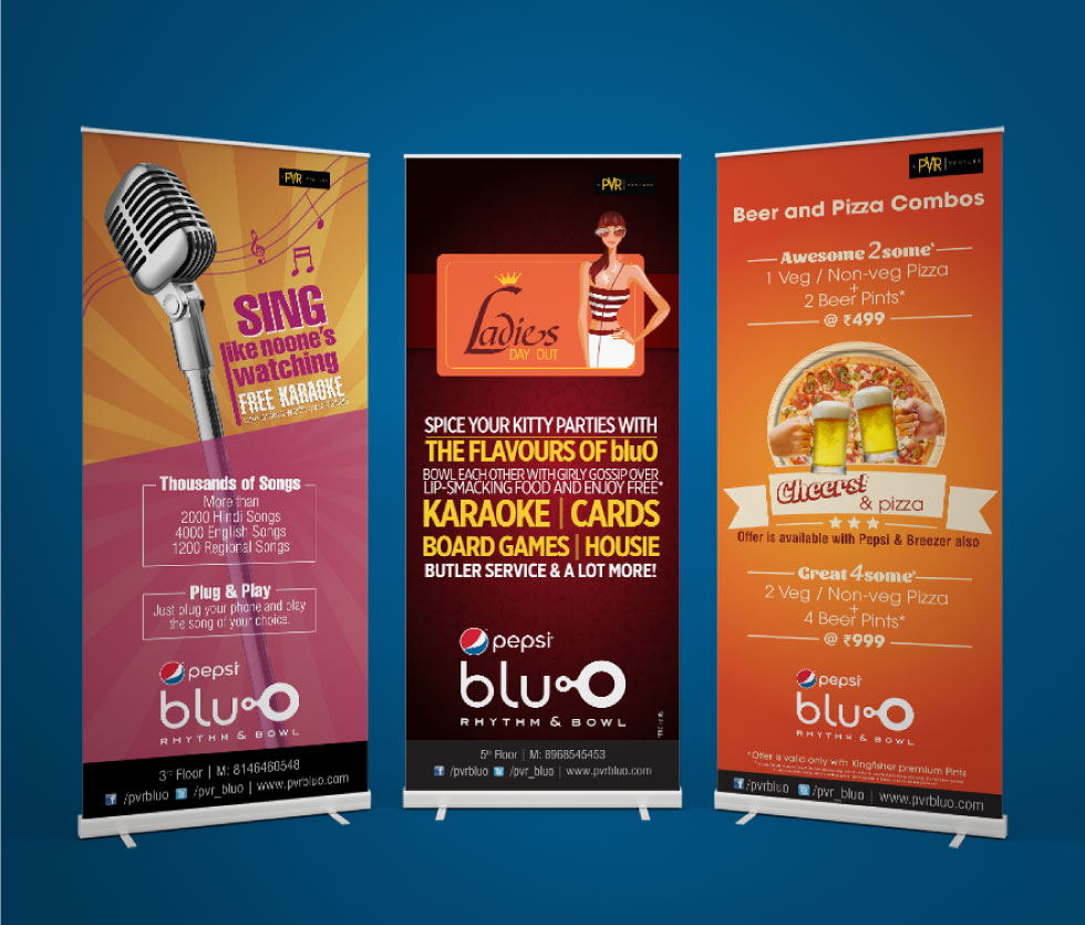 bluO - roll up banners